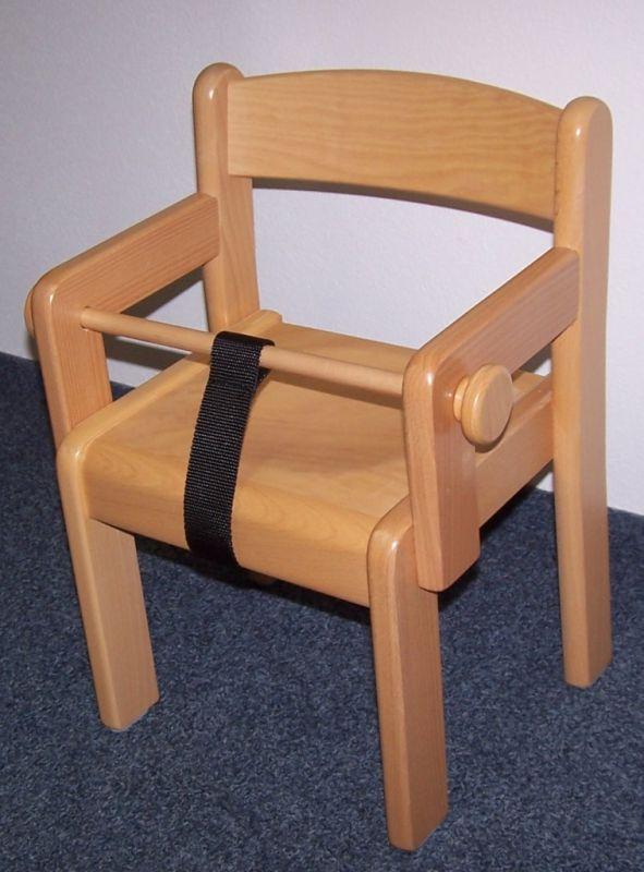 Stuhl TIM mit Armlehne und Sperre/ Höhe 18 cm, natur