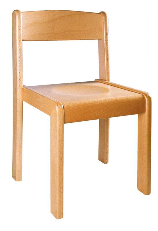 Stapelbar Stuhl TIM - Buche natur