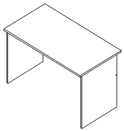 Schreibtisch ohne Schubladen 130 x 70 cm