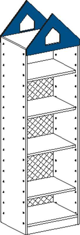 Korpusschrank mit 1 fest Einlegeböden und 3 einstellbar Einlegeböden und Rückwand bis 4/5