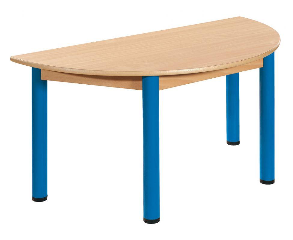 Halbkreis Tisch 120 x 60 cm mit Nivellierfüßen