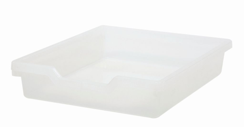Plastik-box N1 SINGLE, Höhe 7,5 cm, transparent Gratnells