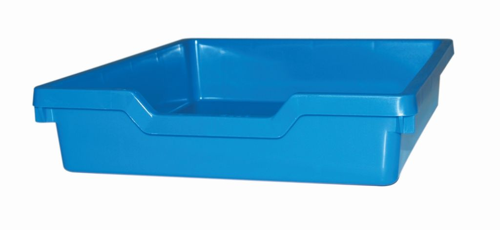 Plastik-box N1 SINGLE, Höhe 7,5 cm, blau Gratnells