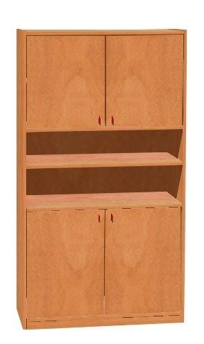 Korpusschrank mit 4 Türen, decor Buche