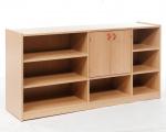 Korpusschrank mit 2 Türen zum Teil mit Rückwand, decor Buche
