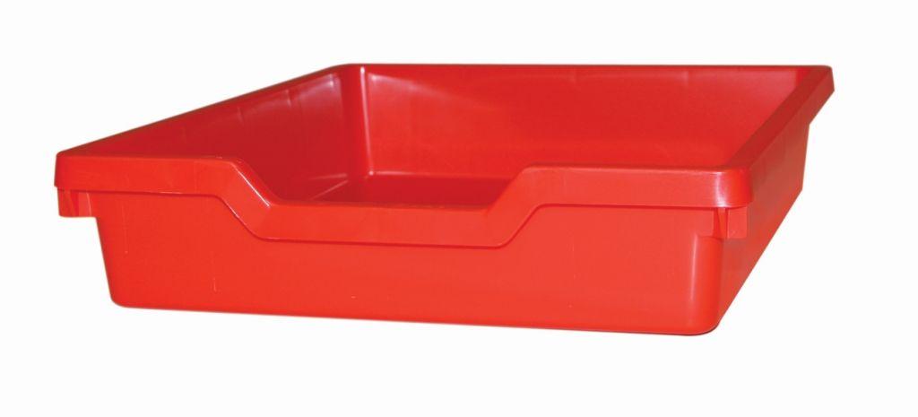 Plastik-boxe N1 SINGLE, Höhe - rot Gratnells