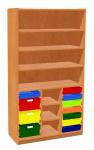 Regalschrank mit 11 Schubladen aus Kunststoff
