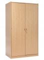 Korpusschrank mit Einlegeböden und abschließbaren Türen, decor Buche