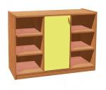Korpusschrank mit Tür und 6 Einlegeböden