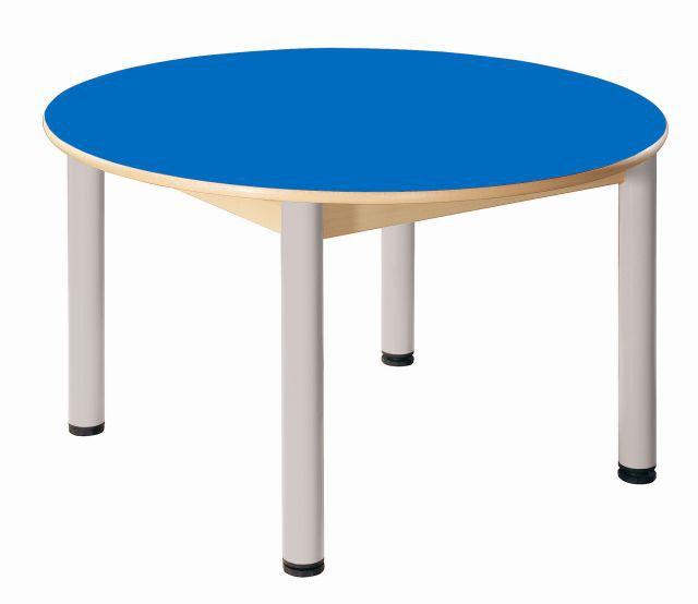 Kreistisch 100 cm mit HPL-Tischplatte / Höhe 36 - 52 cm