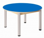 Kreistisch 100 cm mit HPL-Tischplatte / Höhe 52 - 70 cm