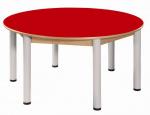 Kreistisch 120 cm mit HPL-Tischplatte /Höhe 36 - 52 cm
