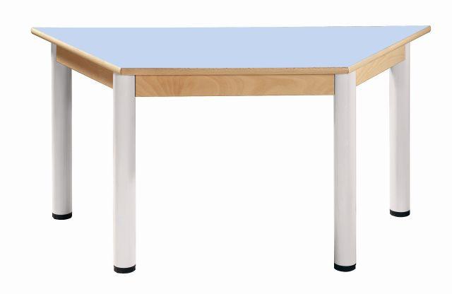 Trapezoidal Tisch 120 x 60 mit HPL-Tischplatte / Höhe 52 - 70 cm