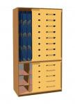 Matratzenschrank 140 cm mit Schiebetür für 10 Kinder